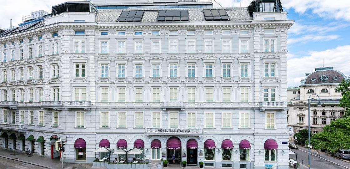 Boutique Hotel Vienna -Fassade_Sans_Souci_Wien_hotel_(c)Stefan Gergely vienna 5 star hotel hotels in central vienna