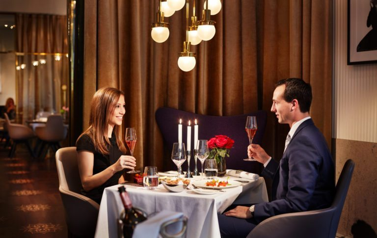 candlelight dinner at Hotel Sans Souci Vienna