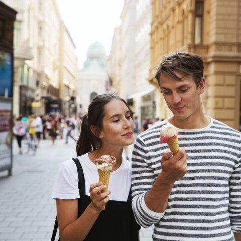 Eis essen in Wien - Hotel Sans Souci Wien