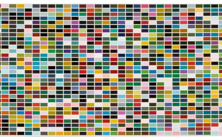Gerhard Richter 1024 Farben in 4 Permutationen, 1973 Emaille auf Leinwand Enamel on canvas Gesamt Gent Photo P. De Gobert Herbert Foundation, Gent © Gerhard Richter