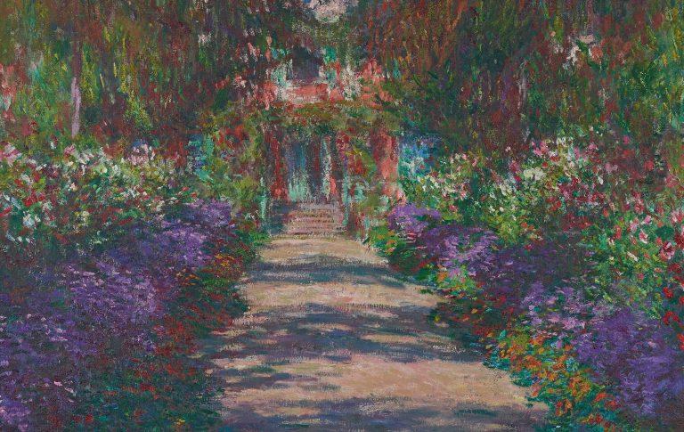 Kunstsalon Sans Souci Claude Monet Weg in Monets Garten in Giverny 1902 Öl auf Leinwand-C-Belvedere Wien