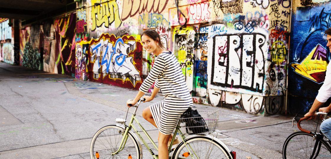 Fahrradfahren Sans Souci Wien