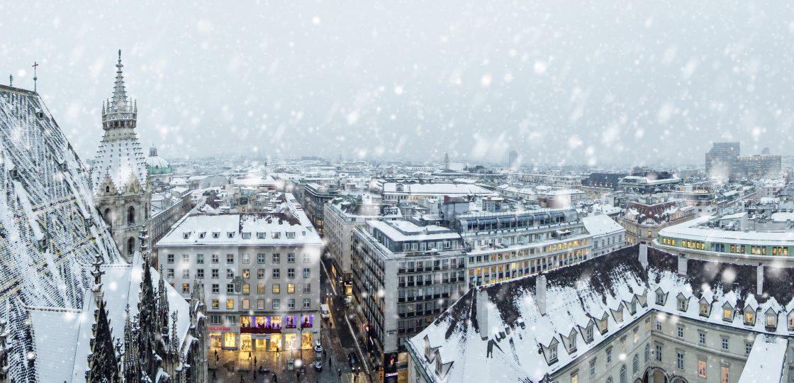 Sans Souci Wien Winter in Wien Blick vom Stephansdom