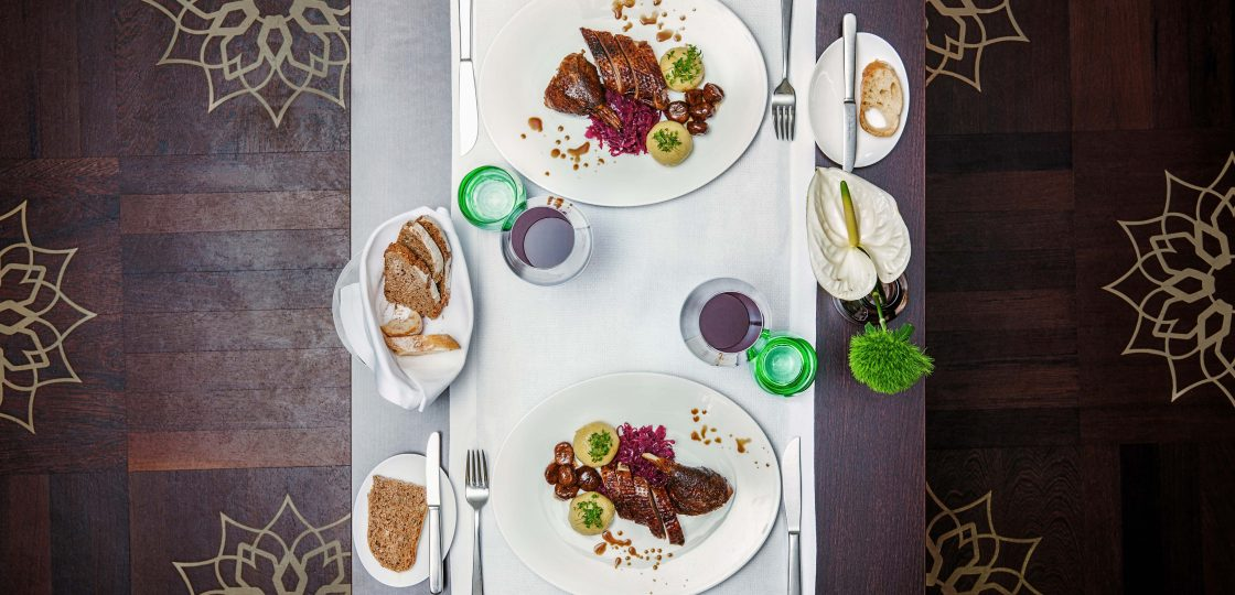 Ganslessen Restaurant Veranda im Sans Souici Wien