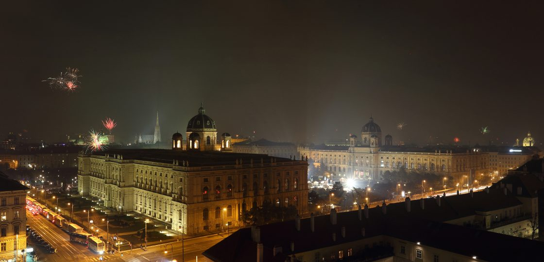 Silvester Aussicht über Wien Sans Souci Hotel