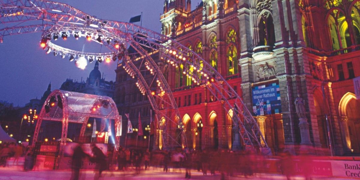 Wiener Eistraum Rathausplatz ©WienTourismus Günther Ezsöl