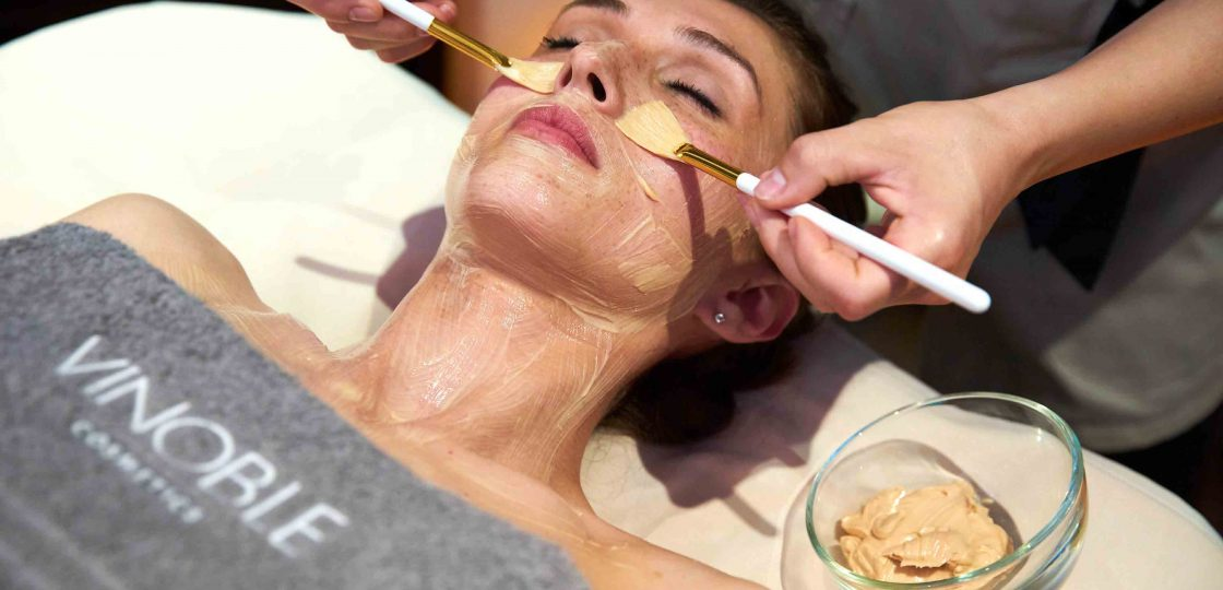Gesichtsmaske @vinoble.cosmetics_Gesichtsbehandlung Spa Wien